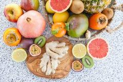 Nya exotiska frukter Fotografering för Bildbyråer