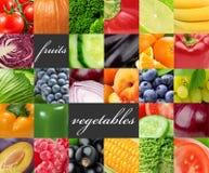 Nya färgfrukter och grönsaker sund begreppsmat Royaltyfria Foton