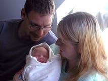 nya föräldrar Arkivbild
