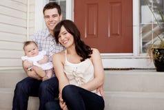 nya föräldrar Arkivfoto