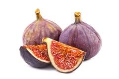 Nya figs på vit Arkivbild