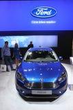 Nya Ford Focus på den auto mobila internationalen Royaltyfria Foton