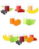 nya fruktsaftar Arkivbilder