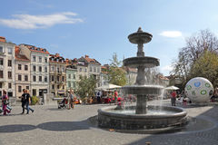 Nya fyrkantiga Ljubljana Royaltyfri Foto