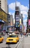 nya fyrkantiga tider gula york för cabstad Royaltyfria Bilder