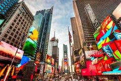 nya fyrkantiga tider USA york för stad Arkivbild
