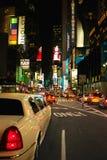 nya fyrkantiga tider york för limo royaltyfri bild