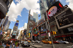 nya fyrkantiga tider york för 7th ave-stad Arkivbilder