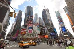 nya fyrkantiga tider york för 7th ave-stad Arkivfoto