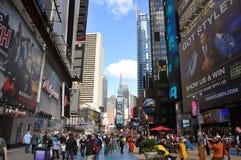 nya fyrkantiga tider york för broadway stad Royaltyfri Foto