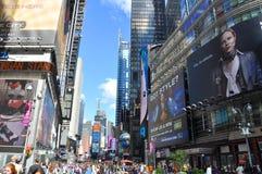nya fyrkantiga tider york för broadway stad Arkivfoto