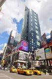 nya fyrkantiga tider york för stadsmanhattan midtown Arkivbild
