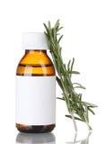 nya gröna medicinska rosmarinar för flaska Royaltyfri Bild