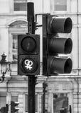 Nya gröna signaler på Trafalgar Square i London - LONDON - STORBRITANNIEN - SEPTEMBER 19, 2016 Arkivbilder