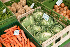 Nya grönsaker ar marknaden Royaltyfri Bild