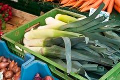 Nya grönsaker ar marknaden Royaltyfria Foton