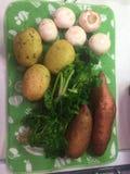 Nya grönsaker från lantgården Arkivbild