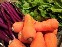 Nya grönsaker från marknaden Royaltyfria Foton