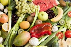 Nya grönsaker och frukter Royaltyfri Fotografi