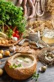 Nya grönsaker och hemlagad soppa Royaltyfri Foto