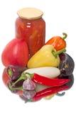 Nya grönsaker och lecho av dem Royaltyfria Foton