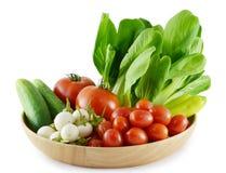 Nya grönsaker på vit Arkivfoton