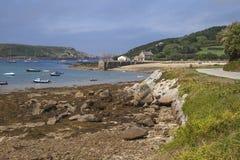 Nya Grimsby, Tresco, öar av Scilly, England Arkivbilder