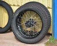 Nya gummihjul av mopeder Royaltyfria Bilder