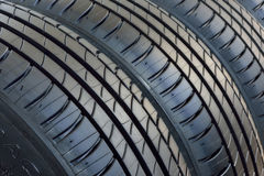 Nya gummihjul för bil Royaltyfri Fotografi