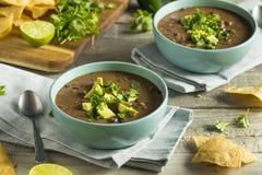 Nya hemlagade svarta Bean Soup Royaltyfri Bild