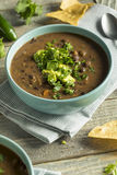 Nya hemlagade svarta Bean Soup Royaltyfria Foton