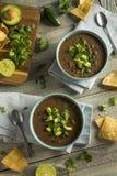 Nya hemlagade svarta Bean Soup Arkivbilder