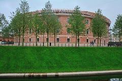 Nya Holland, monument av industriell arkitektur av tidig klassicism i St Petersburg, Ryssland Arkivbild
