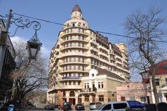 Nya hus, ändrar arkitekturen av staden ukraine odessa Fotoet togs på April 14, 2018 Fotografering för Bildbyråer