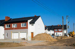 Nya hus Fotografering för Bildbyråer