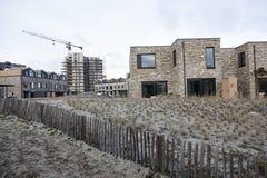 Nya hus i Almere Poort i Nederländerna Royaltyfri Fotografi
