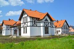 Nya hus i stugabosättningen Fotografering för Bildbyråer