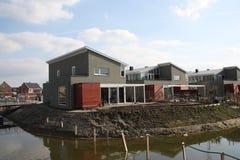 Nya hus i Zoetermeer Nederländerna Arkivbild