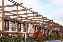 Nya hus i Zoetermeer Nederländerna Royaltyfri Fotografi