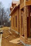 Nya hus som byggs i Nordamerika Arkivbilder