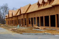 Nya hus som byggs i Nordamerika Royaltyfria Foton