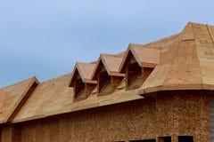 Nya hus som byggs i Nordamerika Arkivfoton