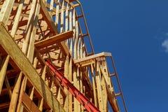 Nya hus som byggs i Nordamerika Royaltyfri Foto