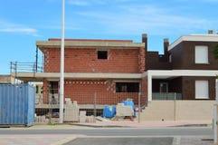 Nya hus som byggs i Spanien Arkivfoton