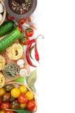 Nya ingredienser för att laga mat Royaltyfri Foto
