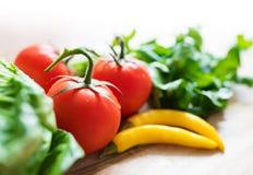 Nya ingredienser för grön sallad Royaltyfri Fotografi