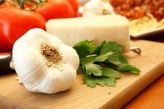 nya ingredienser för matställe Royaltyfri Fotografi
