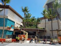 Nya internationella Market Place under konstruktion Royaltyfri Fotografi