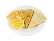 Nya isolerade citronkräppar Royaltyfri Fotografi