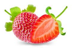nya isolerade jordgubbar Royaltyfria Foton